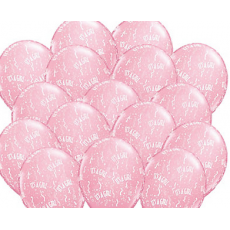 Baby Shower Balloons 'It's A Girl' (Pink) x 8