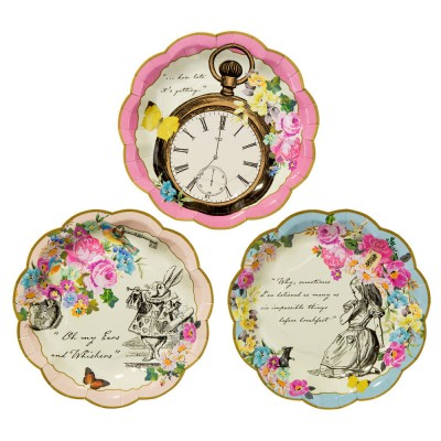 Truly Alice in Wonderland Paper plates x6