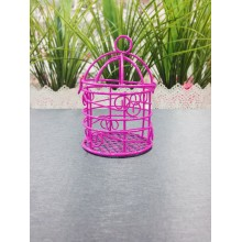 Mini Favour Birdcage (Fuschia)
