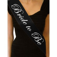 'Bride to Be' Sash (black)