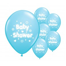 Baby Shower Balloons (Blue) X10