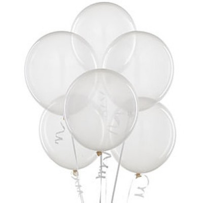 Balloons latex clear x10