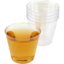 Clear Plastic Shot Glasses x20