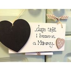 Baby Countdown Sign with Chalkboard Heart