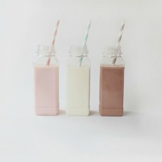 French Milk Bottles x4