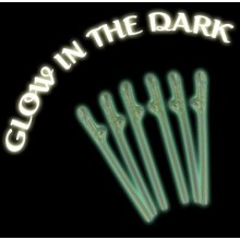Glow In The Dark Willy Straws x6