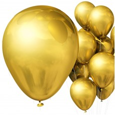 Balloons -Metallic Gold x10