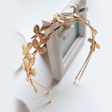 Grecian Leaf Gold headband