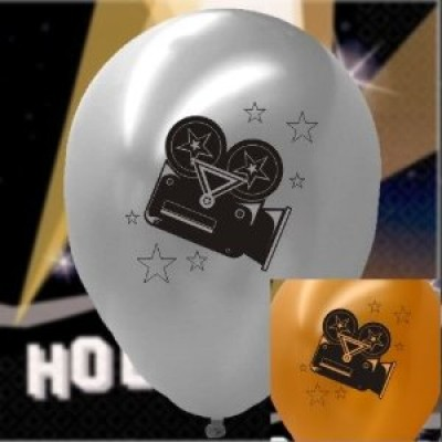 Hollywood Clapper board Balloons x5