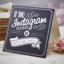 If you Instagram table sign (x5)