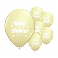 Baby Shower Balloons (Yellow) X10