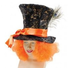 Mad Hatter Top hat with Hair