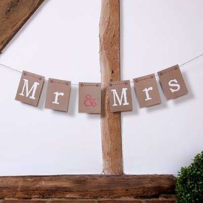 Mr and Mrs Brown Paper Bunting