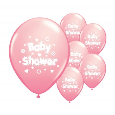 Baby Shower Balloons (Pink) X10