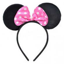 Mickey Mouse Headband Ears - pink