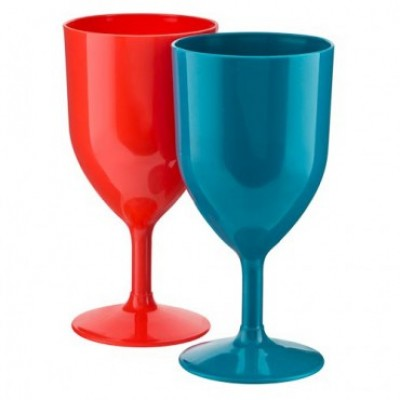 Plastic Wine Glasses x3