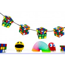 Magic Cube Bunting 80s Party