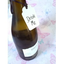 "'Drink Me"" vintage chic tags x4"