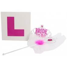 Hen Party Veil, Wand and L Plate Bride to be Set