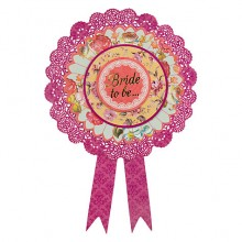 Vintage Bride to be Badge