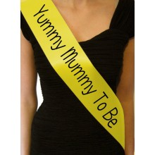 'Yummy Mum to Be' Sash (Yellow)