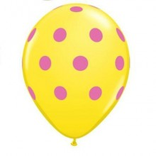 Polka Dot balloons (Yellow) x5